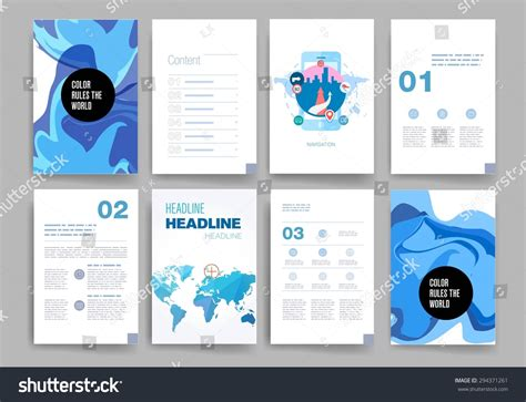 mobile site design template templates design set web mail brochures stock vector