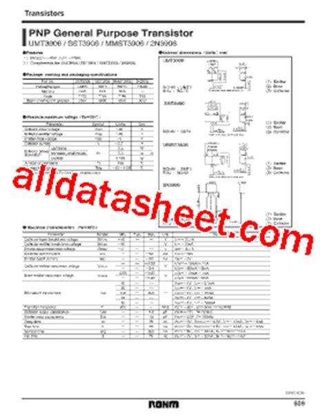 2n3906 transistor datasheet pdf 2n3906 datasheet pdf rohm