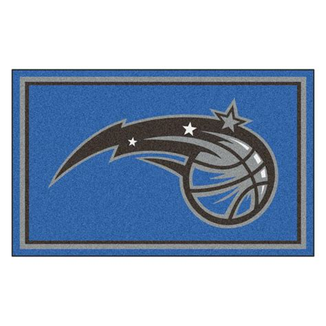 nba rugs fanmats nba orlando magic blue 4 ft x 6 ft area rug 20439 the home depot