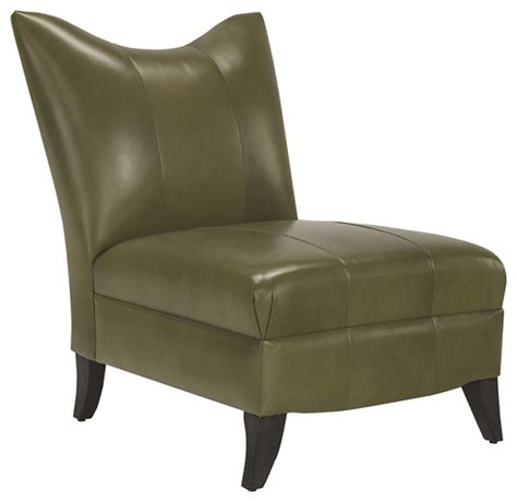 prague ii leather armless chair in sussex giacomo