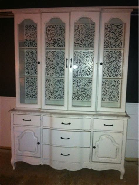 my painted china cabinet china cabinet