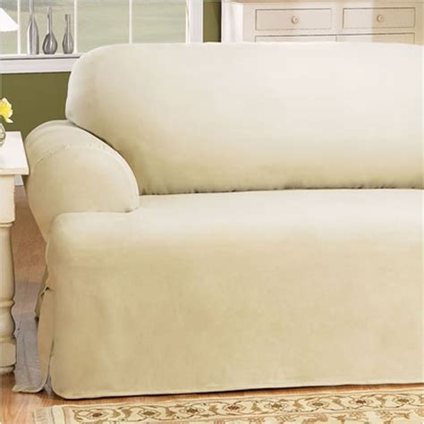 T Cushion Sofa Slip Cover by Cotton Duck Sofa T Cushion Slipcover Wayfair