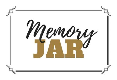 Printable Memory Jar Labels | graduation party memory jar