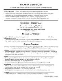 Chronological Resume Sle For Nurses Functional Resume Hashdoc
