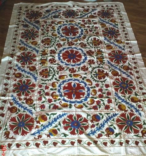 uzbek textile storesebaycom vintage suzani fabric ikat fabric uzbek fabric vintage
