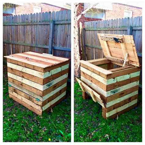 Cheap Bedroom Benches Compost Bin Made From Recycled Pallets 1001 Pallets