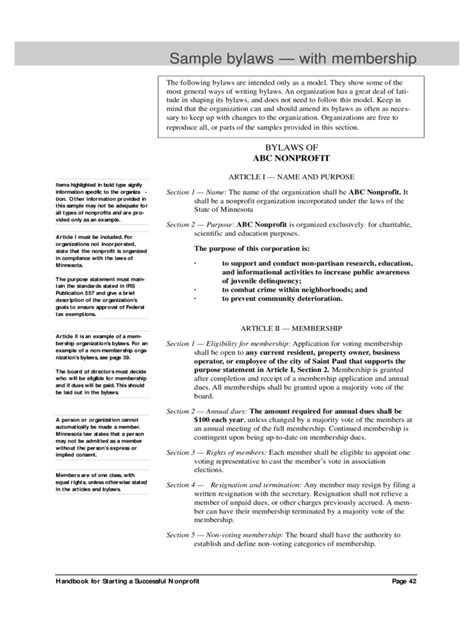 Bylaws Template 4 Free Templates In Pdf Word Excel Download Bylaws Template Word
