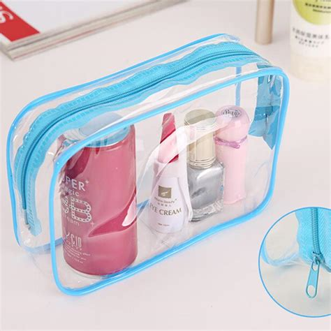 New Korean Pattern Toiletry Pouch For Travel popular plastic cosmetic bag buy cheap plastic cosmetic
