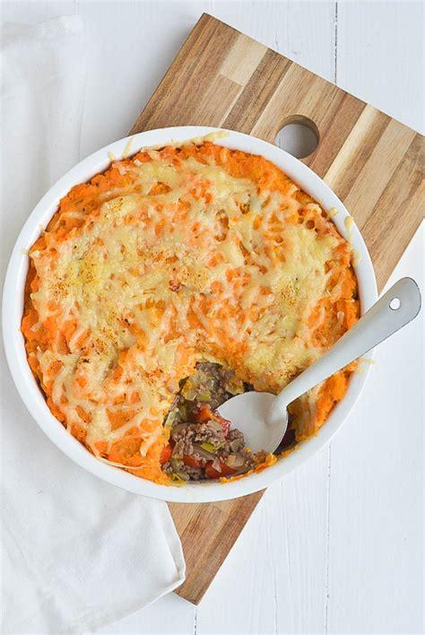 de nieuwe keuken aardappel easy jachtschotel met zoete aardappel uit pauline s keuken