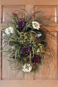 Beautiful Wreaths For Front Door Front Door Wreath Beautiful Twig Wreath With Hydrangeas Poppies