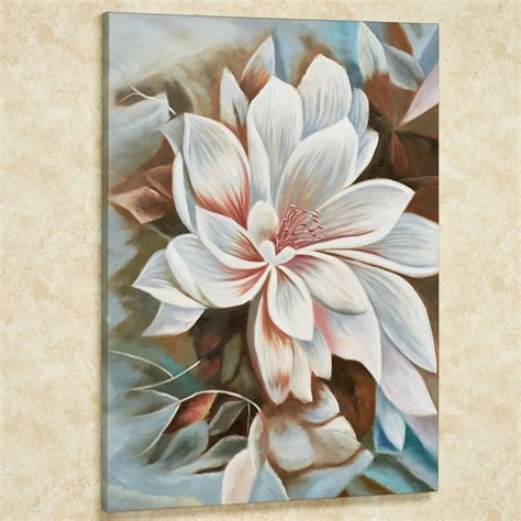 Art Wall Decor Cool And Beauty With Flower Bedroom Wall | bursting beauty magnolia floral canvas wall art