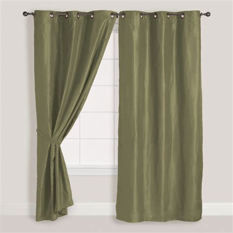 sage curtains drapes 2x panels pair faux suede metal grommet curtain drape set
