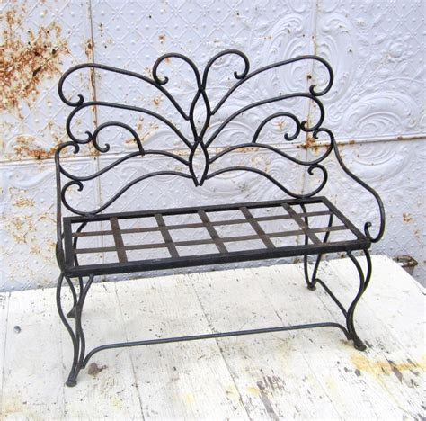 Wrought Iron Child S Butterfly Bench Metal Seating