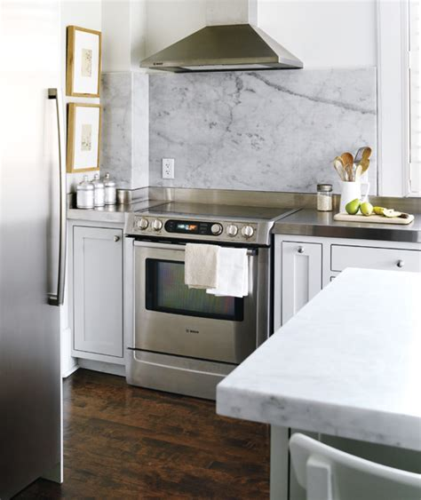 Carrara Marble Kitchen Backsplash Carrara Marble Backsplash Transitional Kitchen Style At Home