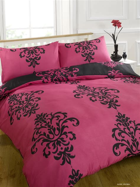 fuchsia bedding duvet quilt cover bedding set pink single double king