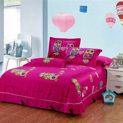 Twin Size Comforter Sets For Kids 100 Cotton Kids Boys 3d Owl Bedding Set Twin Queen King