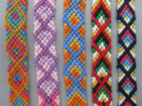 a colorful collection of made friendship bracelets