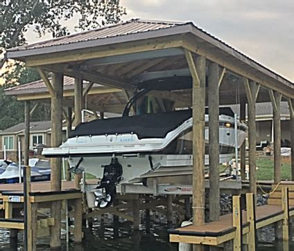 hurricane boats lifts waterjack marine construction your lake wylie dock