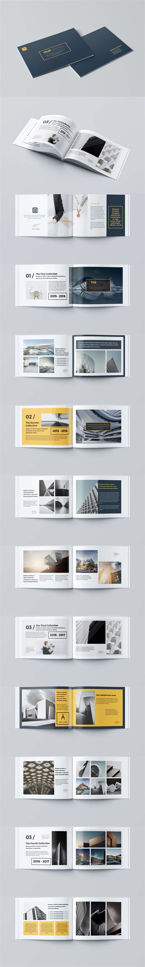 Our Portfolio Architecture 24 Pages A4 A5 Template Indesign Indd Brochure Templates Pinterest Architecture Portfolio Template Indesign Free
