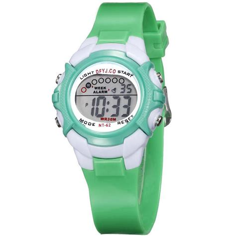 silicone band sport wristwatch boys students