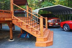cedar deck  stained  sherwin williams deckscapes