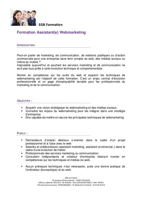 Lettre De Motivation De Webmaster Formation Webmarketing Et Community Manager Toulouse