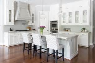 Wallpaper Kitchen Backsplash white and gray kitchen with chevron counter stools