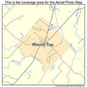 roundtop map aerial photography map of top tx