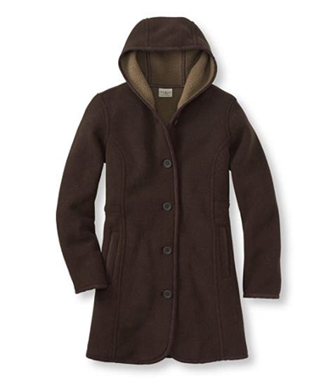 Where To Buy Ll Bean Gift Cards - women s kingfield fleece coat hooded free shipping at l l bean