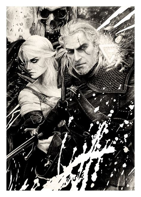 the witcher pencil drawing by wildgoska on deviantart