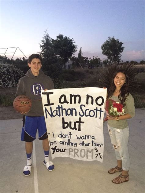 prom proposals for guys naley one tree hill promposal naley pinterest too