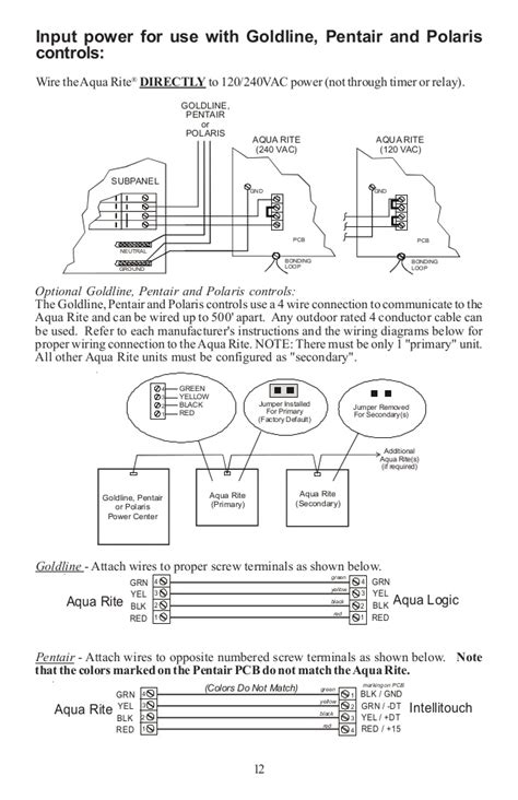 aqua rite wiring diagram how to connect a salt water