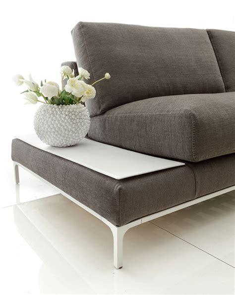 canapé design tissu centrotavola legno