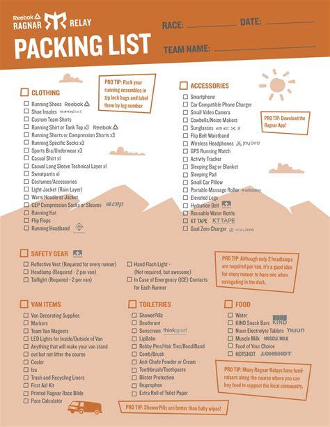 sle packing list 20 do u0027s and don u0027ts expense u0026 budget