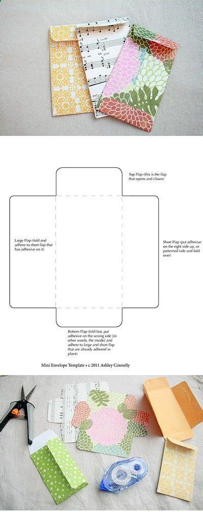 printable handmade envelope free printable mini envelope template craft projects