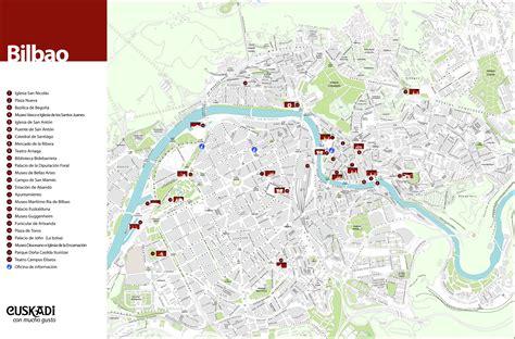 map of spain bilbao tourist map of bilbao size