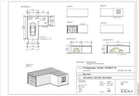 garage zeichnung betongaragen omicroner garagen