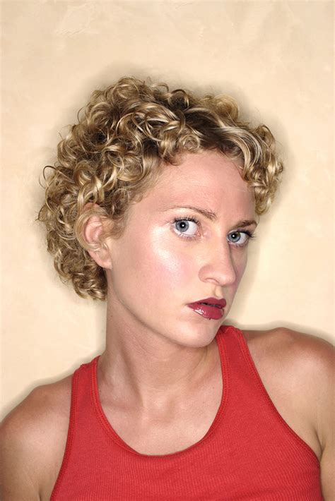 soft perms for short hair tight spiral perm short hair