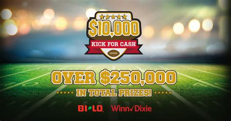 Instant Win Money Games - winn dixie and bi lo 10 000 kick for cash instant win game