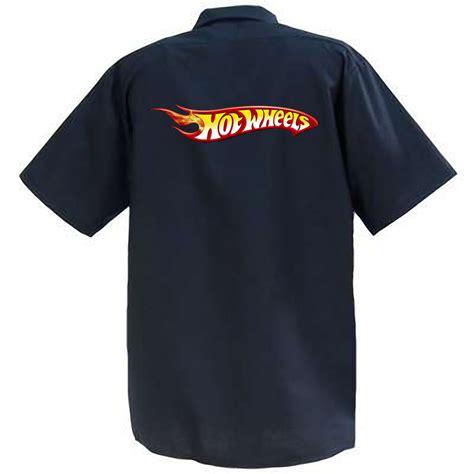 Polo Hotwheels Logo 1 wheels logo ii mechanics graphic work shirt sleeve ebay