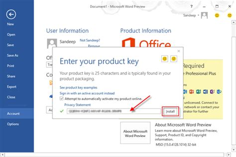 Office 2013 Product Key Finder by Image Gallery Install Office 2013 Product Key