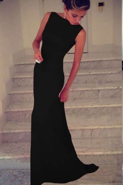 cheap sleeveless long black prom dresses  store