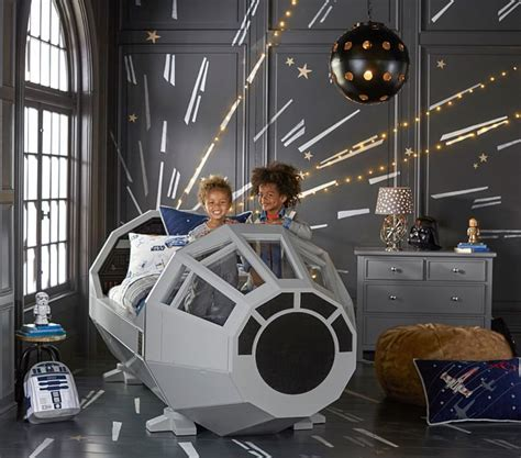 at at bed star wars millennium falcon cockpit bed by pottery barn kids
