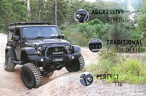 Jeep Grill 7 Slots Angry Grill Grille Jeep Wrangler Jk Seven Slot Mad