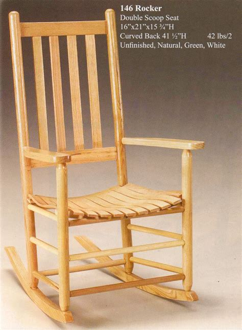 tc 146 cottage scoop seat solid oak rocker