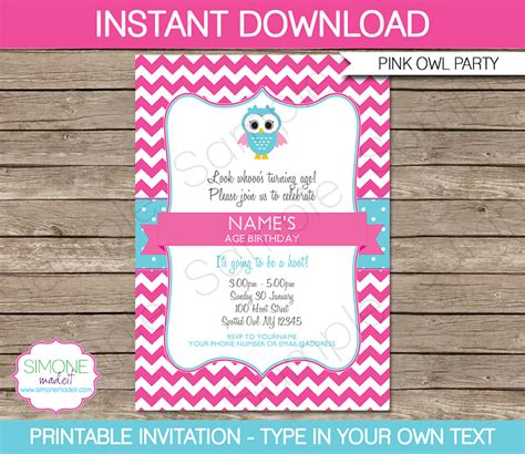 printable owl party invitations owl party printables owl birthday party owl invitations