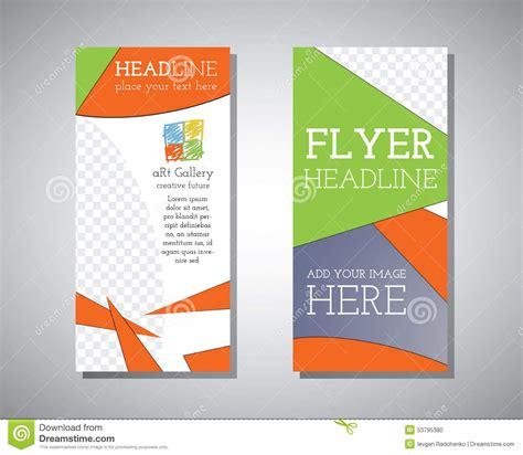 flyer design gallery abstract art gallery polygonal triangle brochure flyer