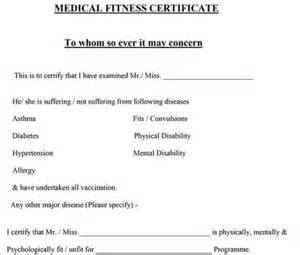 Statement Of Fitness For Work Template by Certificate Template 20 Free Word Pdf