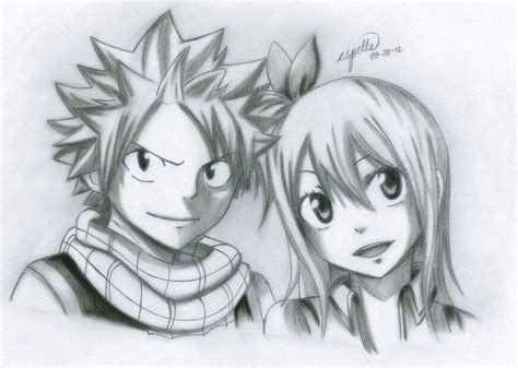 Lucy Heartfilia Lineart : Fairy tail natsu and lucy drawing nivoteam.info