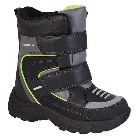 black athletech boy s 2 winter boots warmth and comfort